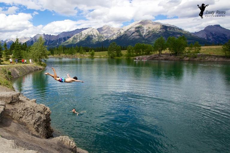 Alberta Lake Rockies diving dustyriversphotography