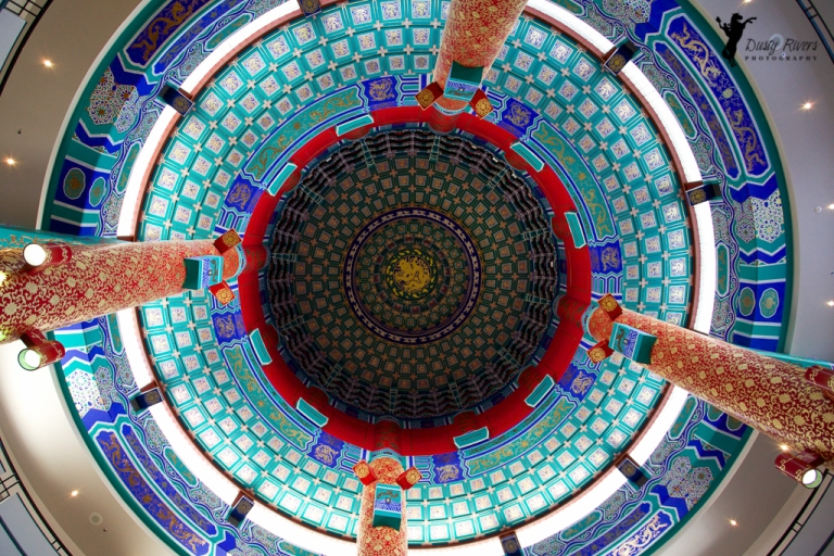Chinese Cultural Centre ceiling Calgary Alberta dustyriversphotography