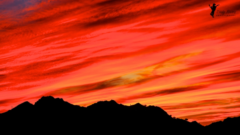 Phoenix fall sunset desert mountains dusty rivers photography