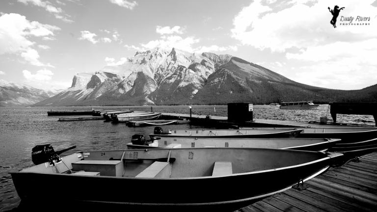 Lake Minnewonka boat rentals Banff Alberta dustyriversphotography