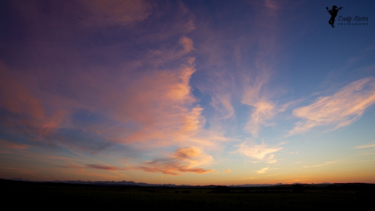Sunset wideangle Elbow Valley Calgary Alberta dustyriversphotography