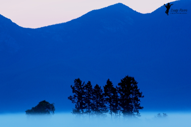Blue Mountain Sunrise Kalispell Montana USA dustyriversphotography