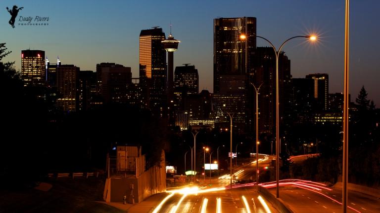 Calgary Skyline sunset yyc Mcelod Trail Calgary Alberta Canada dustyriversphotography