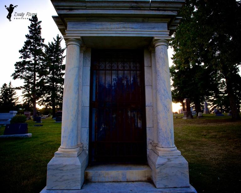 Mauseleum Union cemetery Calgary Alberta Canada dustyriversphotography