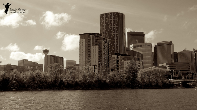 The Bow, Sepia Tone, yyc, Calgary, Alberta, Canada, dustyriversphotography