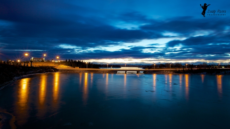Glenmore reservoir, Calgary, yyc, night shot, lanscape, rockyview hospital Alberta, Canada, dustyriversphotography