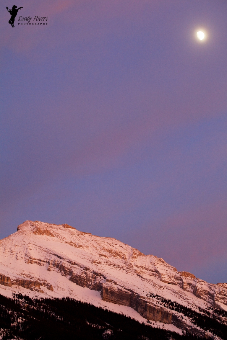 Banff, Sunset 3.1, mountains, pink sky, yyc, Alberta, Canada, dustyriversphotography
