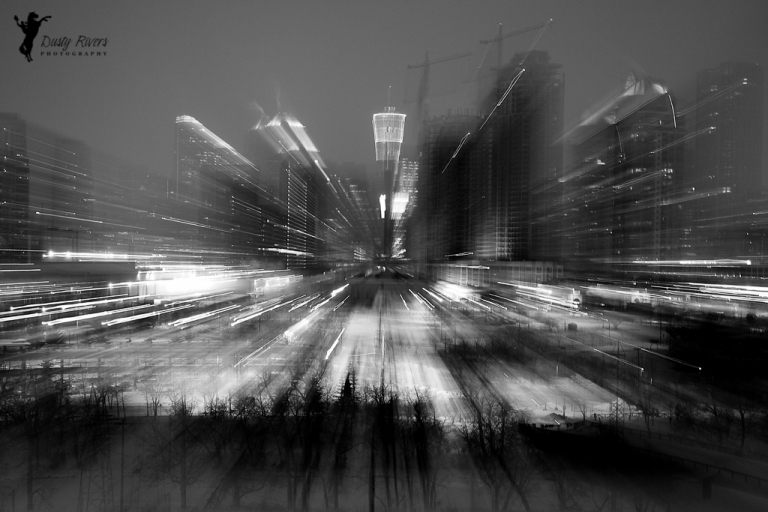 funky Calgary pic, night shot, winter, black and white, downtown Calgary, Calgary, yyc, Alberta, Canada, dustyriversphotography
