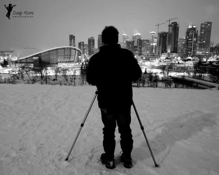 Rick, black and white, downtown Calgary, cityscape, Calgary, yyc, Alberta, Canada, dustyriversphotography