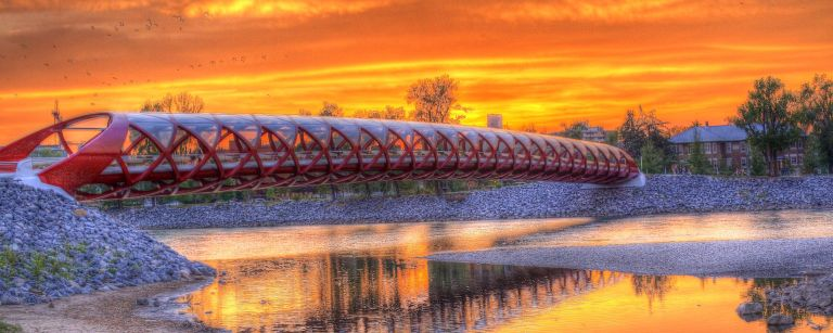 Pease Bridge, HDR, Calgary, YYC, Sunset, DustyRivers Photography, dustyriversphotograpy.com
