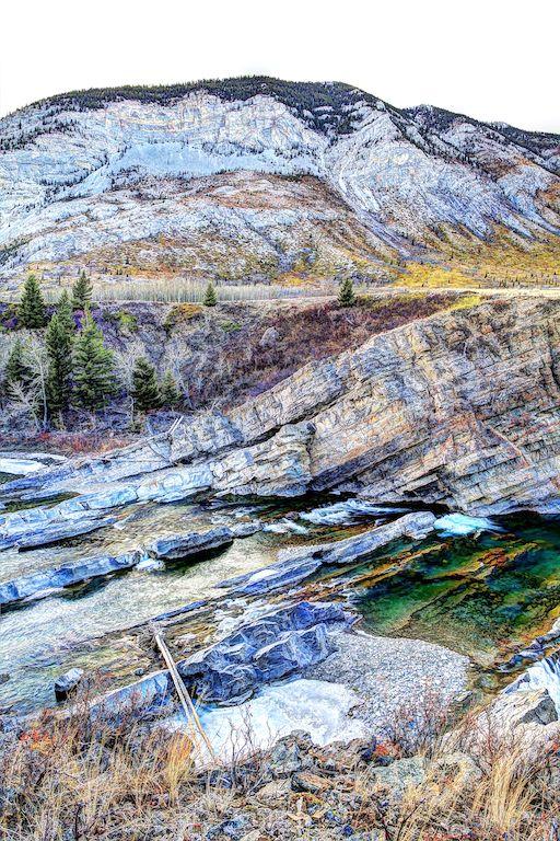 Oldman River Falls 2, HDR, Oldman River, Alberta, Canada, Water Falls, landscape, YYC, Dusty Rivers Photography, dustyriversphotography.com