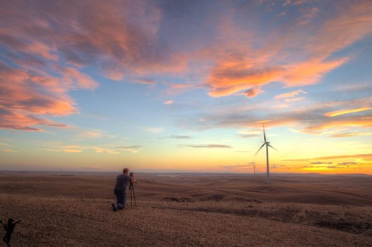 Wind Turbine 2, sunset, Alberta windfarm, Alberta, Canada, Dusty Rivers Photography, dustyriversphotography.com