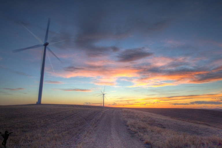 Wind Turbine 4, sunset, Alberta windfarm, Alberta, Canada, Dusty Rivers Photography, dustyriversphotography.com