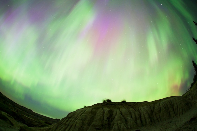 Horseshoe Canyon 2, Drumheller, northern lights, night time, yyc, Horseshoe Canyon Series, Dusty Rivers Photography, dustyriversphotography.com