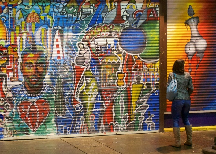 Life Imitates Art, Downtown Calgary, night time, graffitti, YYC, Dusty Rivers Photography, dustriversphotography