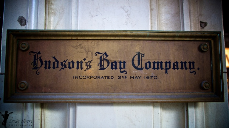 Hudsons Bay Company sign, Downtown Calgary, night shot, YYC, Dusty Rivers Photography, dustyriversphotography,com