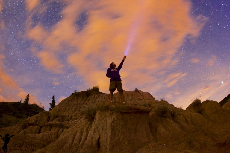Rob Moses, Horseshoe Canyon, Drumheller, night shot, clouds, YYC, Dusty Rivers Photography, dustyriversphotography,com