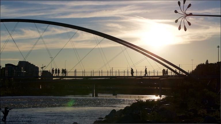 St Patricks Island, George C. King Bridge, Downtown Calgary, sunset shot, YYC, Dusty Rivers Photography, dustyriversphotography,com