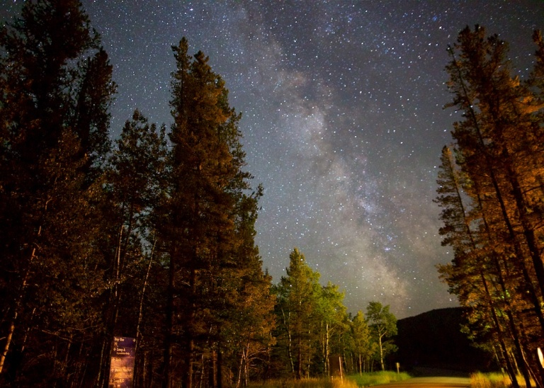 Sandy McNabb  Campground 2, Day Use Road, Milky Way, Star Photo, nighttime photography, Alberta, Canada, Dusty Rivers Photography, dustyriversphotography.com