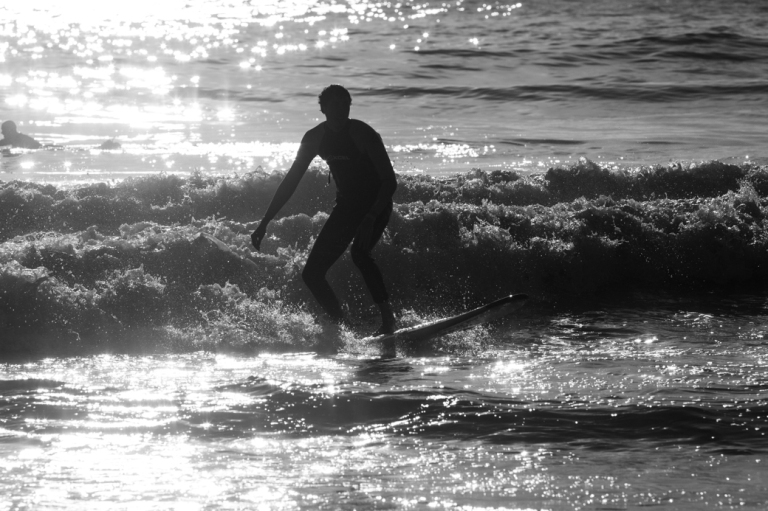 Surfing, Chesterman beach, Tofino beach, black and white, Tofino, BC, Dusty Rivers Photography, dustyriversphotography.com