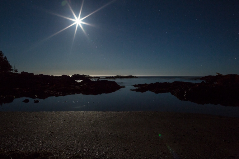 Big Beach, Ucluelet, night time, moonlit beach, YYC, Dusty Rivers Photography, dustyriversphotography.com