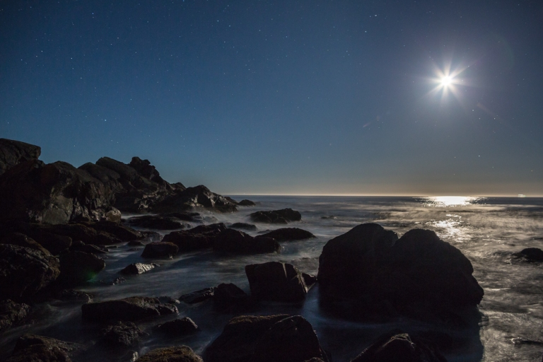 Big Beach, Ucluelet, night time, rocky beach,moonlit beach, YYC, Dusty Rivers Photography, dustyriversphotography.com