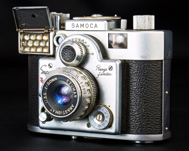 Samoca Range Finder, antique camera, 35mm camera, Calgary, YYC, Dusty Rivers Photography, dustyriversphotography.com