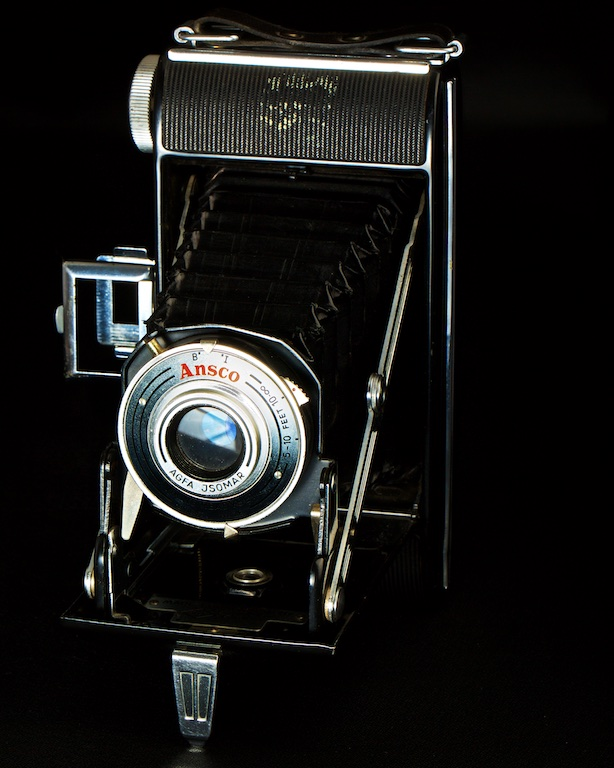 Ansco Camera, antique camera, fold out camera, Calgary, YYC, Dusty Rivers Photography, dustyriversphotography.com