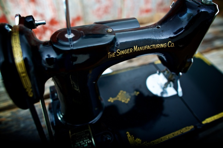 Singer Sewing Machine, Portable, color, Calgary, Ab, YYC, Dusty Rivers Photography, dustyriversphotography.com